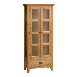 Montague Oak Glazed Display Cabinet